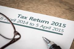 Tax return 2015 Stock Photos