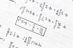 Mathematical equations Stock Photos