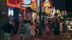 4K Nashville Honky-tonk District Night 2 Stock Footage