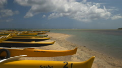 outrigger canoes on oahu - stock footage