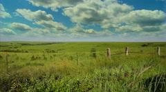 Kansas Flint Hills timelapse clouds Stock Footage