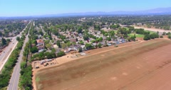 4K, Aerial view of San Fernando Valley, Part 3(See Description For Part1 And 2) - stock footage