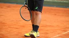 Tennis Match. Training. Stock Footage