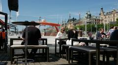 Strandvagen Boulevard, Ostermalm, Stockholm, Sweden Stock Footage