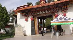 Norbulingka Palace entrance, Lhasa, Tibet Stock Footage
