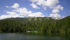 Breckenridge Colorado small lake and mountains timelapse PAN Stock Footage