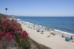 Malibu Beach Summer Stock Photos
