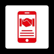 Stock Illustration of Mobile Agreement Icon