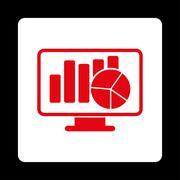 Statistics Icon - stock illustration