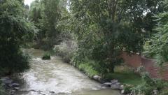 Stock Video Footage of Pueblo Colorado Riverwalk / Historic Arkansas Riverwalk 09J