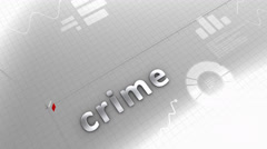 Growing chart crime, statistic, data, performance. Stock Footage