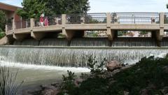 Pueblo Colorado Riverwalk / Historic Arkansas Riverwalk 09F Stock Footage