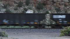 Gallup New Mexico - Passing Freight Train Stock Footage