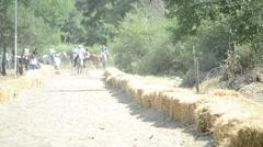 Traditional Horseback Archer 1/3 - stock footage