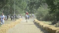 Traditional Horseback Archer 1/10 - stock footage