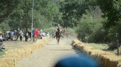 Traditional Horseback Archer 1/11 - stock footage