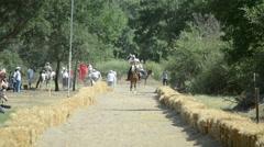 Traditional Horseback Archer 1/12 - stock footage