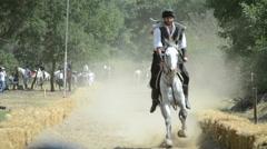 Traditional Horseback Archer 1/15 - stock footage