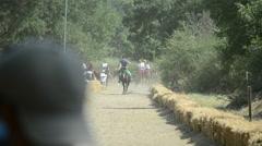 Traditional Horseback Archer 1/16 - stock footage