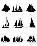 sailing boats - stock illustration