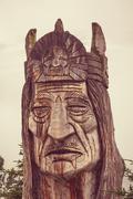 Alaska totem - stock photo