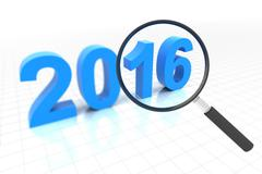 Clear view in year 2016 - stock illustration