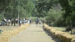 Traditional Horseback Archer 1/17 - stock footage