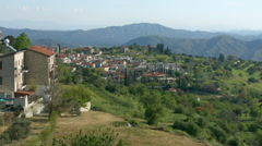 Beautiful view of mountain village in Troodos, Cyprus. Green landscape, summer Stock Footage