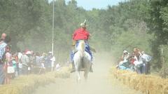Traditional Horseback Archer 1/19 - stock footage