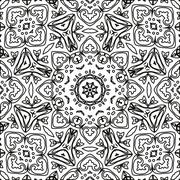 Abstract seamless outline pattern - stock illustration