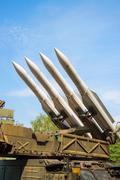 Air defense missiles - stock photo