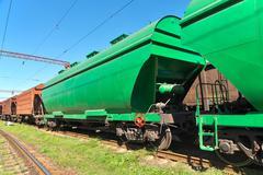 Grain transportation Stock Photos