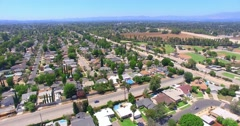 4K, Aerial  view of San Fernando Valley, Part 2(see Description for Part1 and 3) - stock footage