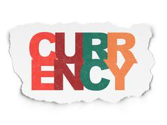 Banking concept: Currency on Torn Paper background Piirros