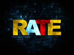 Currency concept: Rate on Digital background - stock illustration