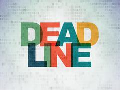 Stock Illustration of Business concept: Deadline on Digital Paper background