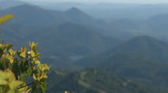 Magnificent natural scenery of mountain slopes and lake. Beautiful landscape Stock Footage