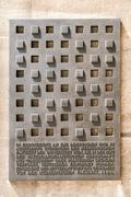 Foundation Stone Monument At University Of Vienna - stock photo
