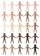 Skin Tone Cutout Men - stock illustration