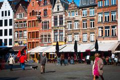 Antwerp old town, Belgium - stock photo