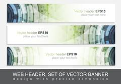 Creative web header or banner for your project Stock Illustration