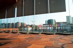 View over Antwerp from Musem aan der Stroom Stock Photos