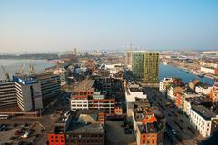 View over Antwerp city, Belgium Stock Photos