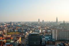 View over Antwerp city, Belgium - stock photo