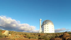 Time lapse of large astronomy telescope Stock Footage