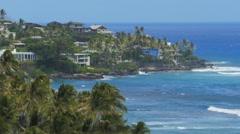 hawaii keahamoe bay close up - stock footage