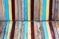 Slat colourful - stock photo