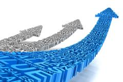 Business improvement arrows Stock Illustration