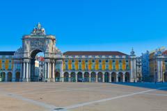 Portugal, Commerce Square in Lisbon Stock Photos