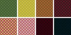 8 Vector Seamless Patterns. Rhombuses. EPS10. Stock Illustration